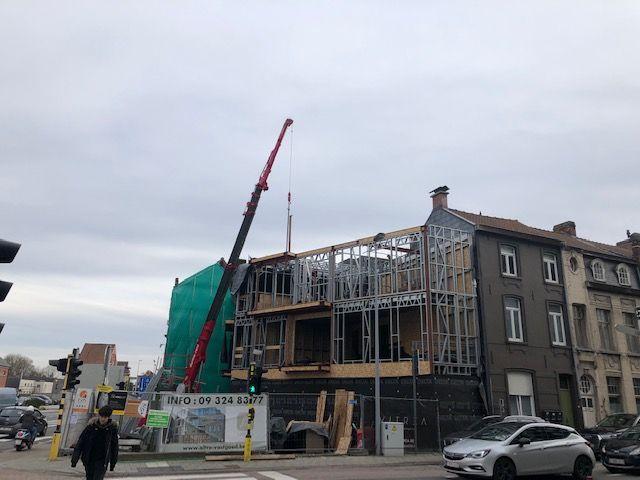 Deinze - bouwen appartementsgebouw
